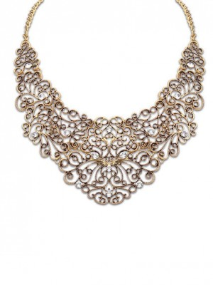 Occident Stylish Personality Metallic Hollow Hot Sale Necklace
