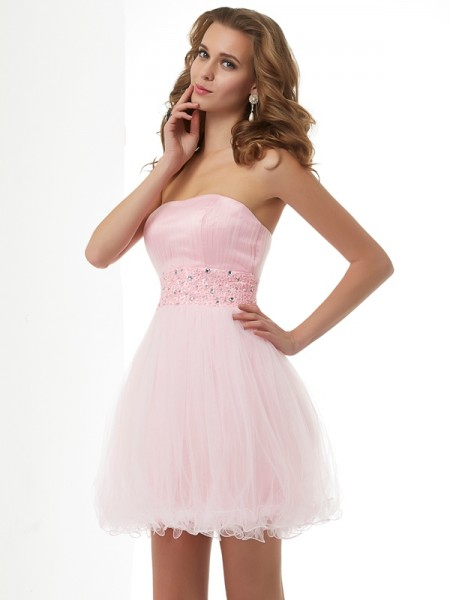 Sheath/Column Sweetheart Sleeveless Short/Mini Beading Elastic Woven Satin Dresses