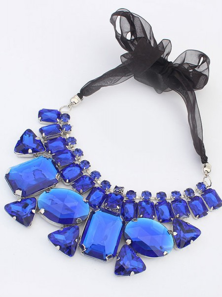 Occident Trendy Major suit Gemstone Ribbons Hot Sale Necklace
