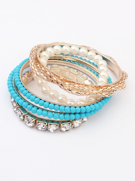 Occident Beaded Exquisite Multi-layered Pearls Hot Sale Bracelet