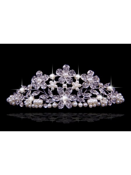 Nice Czech Rhinestones Flowers Pearls Wedding Headpieces