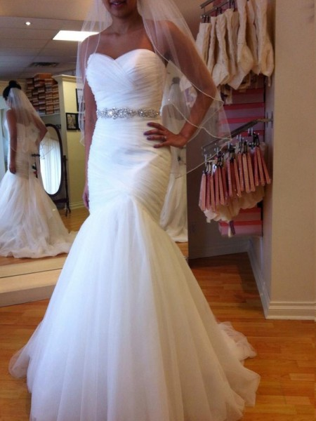 Trumpet/Mermaid Sweetheart Sleeveless Floor-Length Beading Tulle Wedding Dresses