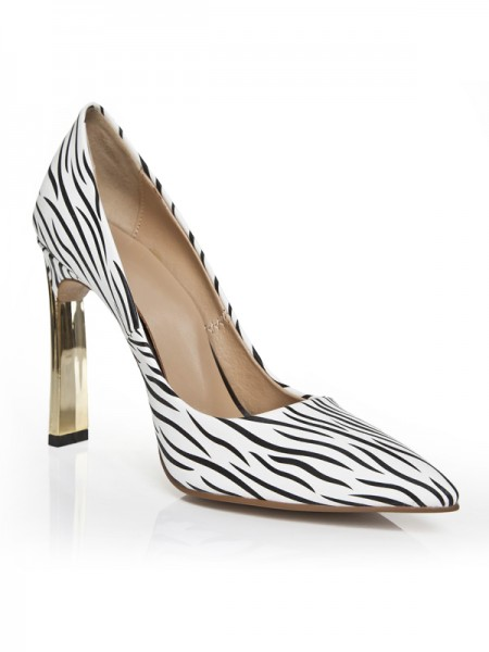 Women's Stiletto Heel Closed Toe High Heels